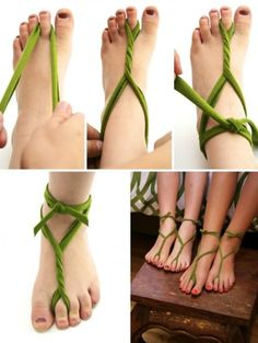 This looks cool, and if you want you can sew it to shoe soles with to make sandals.