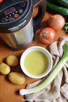 Here is my delicious and super smooth soup maker recipe for Leek & Potato soup - you don't have to use a cream, it's also vegetarian.