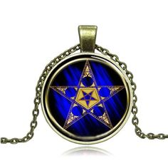 Five-Pointed Star Cabochon Necklace