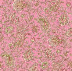 Sadie Pink Paisley Swirl