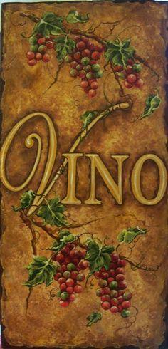 Italian Grapes Painting Art