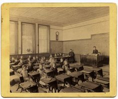 Old schoolhouse classroom