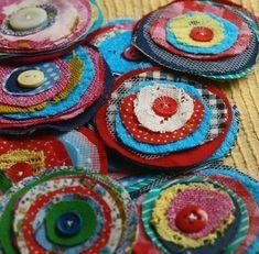 Patchwork Flowers - Repurposed Fabric