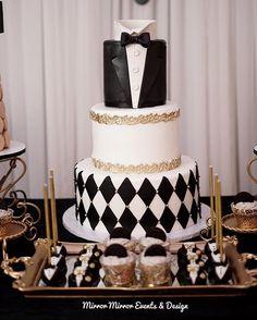 And of course the cake! @rafispastry  Photo: @iamrtg  #bowtieaffair #bowties #tuxedo #kidsevents #bowtieswag #cakeart #caketable #desserttable #christening #firstbirthday #blackandwhite #eventdesign #setdesign #laevents #inspiration