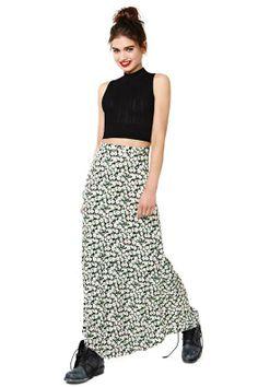 Motel Ditsy Maxi Skirt