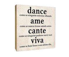 Quadro box dance ame cante viva - 40x40cm | Westwing - Casa & Decoração
