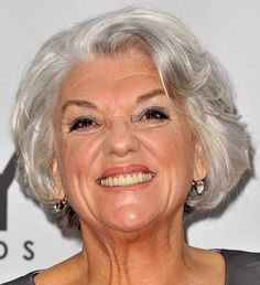 Tyne Daly's soft silver bob has lots of natural-looking wave and fullness.  More gray hairstyles:    10 Long Gray Hair Styles  10 Short Gray Haircuts  How to Go Gray Gracefully