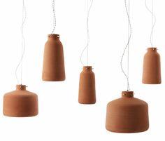 'chimney lamps' benjamin hubert. I love terracotta color
