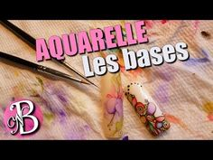 Nail art aquarelle - FLEUR Fushia - Watercolor flower - YouTube