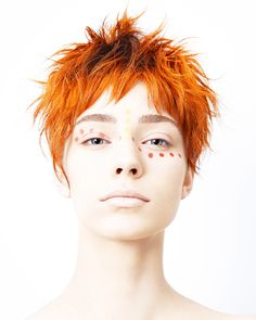「JHA」Japan Hairdressing Awards orange red hair color
