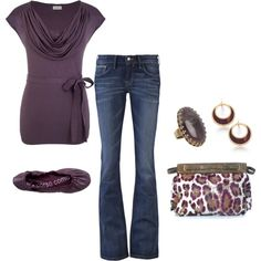 Plum/Leopard, created by mmessenger on Polyvore