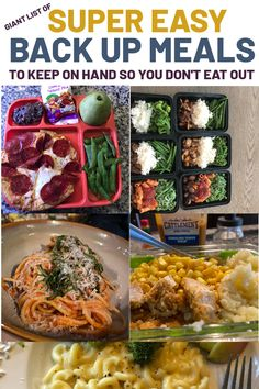 A giant list of super easy back up meal ideas. These ideas are faster and taste better than ordering out. If you're struggling with sticking to your meal plan, keeping a few of these simple and delicious meal ideas on hand will keep you out of the drive-thru for good. Home Organization Hacks, Organizing Your Home, Super Easy, Breaded Chicken Cutlets, Pork Nachos, Chicken Patties, Smoothie Packs, Turkey Burgers, Breakfast Pizza