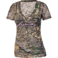 Women's Realtree Xtra Camo Remedy Burnout Tee at Legendary Whitetails