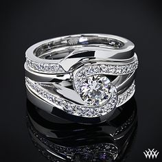 Unique Engagement Rings | These beautiful Custom Contoured Diamond Wedding Rings curve to fit ...