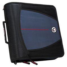 "Case•it 3 Zipper Binder with Internal Pockets, 8.5"" x 11"" -"
