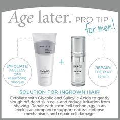 Image Skincare FOR MEN.  Age Later. Pro Tip.  www.skingeeks.co.uk