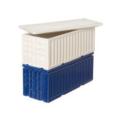Cargo Containers Blue and White now featured on Fab.
