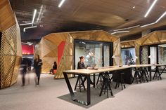 National Australia Bank (NAB) Docklands by Woods Bagot. Australian Interior Design, Interior Design Awards, Best Workplace, Workplace Design, Melbourne Docklands, National Australia Bank, Banks Office, Retail Facade, Design Research