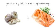 Did you know...marinating your fish in garlic is anti inflammatory? {click for more powerful food combinations}