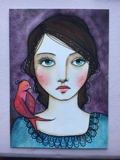 "Postcard Print ""Pretty Bird"" by Pennystamper on Etsy https://www.etsy.com/listing/266709440/postcard-print-pretty-bird"