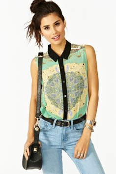Baroque Chain Blouse in Clothes Tops at Nasty Gal