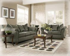 Sage Green Sofa And Loveseat With Khaki Walls Maybe I Can Make My Sofas Work