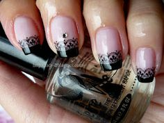 It`s all about nails: Elegant black french