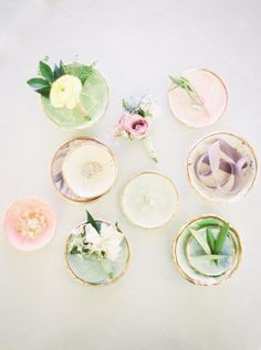 watercolor garden wedding palette - photo by Jessica Gold Photography