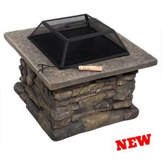 """Patio Fire Pit Outdoor Garden Brazier BBQ Steel Stove Heater Grill Fireplace 29"""""""