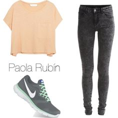 Untitled #64 by pao-xox on Polyvore featuring polyvore fashion style Elizabeth and James VILA NIKE