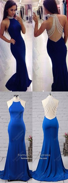 Mermaid Prom Dresses Royal Blue, Long Formal Dresses For Teens, Jersey Formal Dresses High Neck, Elegant Pageant Dresses with Beading royal blue formal dress / royal wedding dress / wedding royal blue / blue wedding royal / royal blue dress Affordable Prom Dresses, Formal Dresses For Teens, Elegant Prom Dresses, Pretty Dresses, Royal Blue Prom Dresses, Blue Wedding Dresses, Pageant Dresses, Prom Gowns, Long Gowns