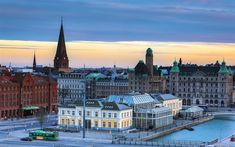 Download wallpapers Malmo, Old City, spring, sunset, old architecture, Sweden