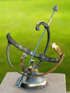 For a special occasion marking a moment in time. Armillary Sphere Sundial delivery free within mainland UK Desk Lamp, Table Lamp, A Moment In Time, Sundial, Messing, Bronzer, Solar, Objects, Clock