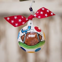 GLORY HAUS Football Ornament