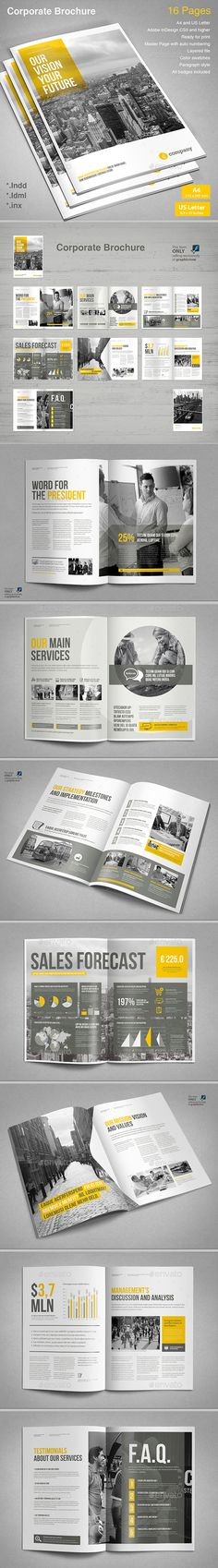 Corporate Brochure Template InDesign INDD, AI Illustrator