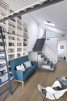 Located in central Madrid, this 170-square-metre, home stagged over three storeys was showing the signs of its out-dated 1950s heritage. Architects Egue y Seta embraced the original high-ceilings and natural light to convert the space into a creative, comfortable and inviting home a young family.