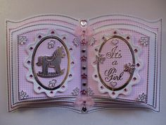 Handmade Baby Girl Bookatrix Handmade Baby, Handmade Cards, Card Book, Glitter Girl, Crafters Companion, Card Patterns, Baby Design, Keepsakes, Baby Cards