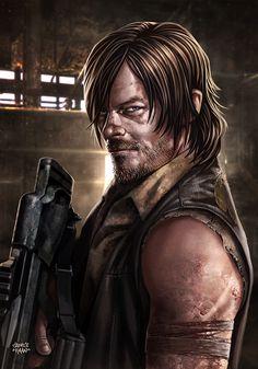 DARYL DIXON - The Walking Dead by sadeceKAAN.deviantart.com on @DeviantArt