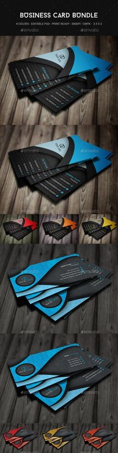 Buy Creative Business Card Bundle by on GraphicRiver. Template Details: PSD files Color mode dpi ready Fonts: Roboto – https. Business Cards Online, Create Business Cards, Printable Business Cards, Letterpress Business Cards, Free Business Card Templates, Cool Business Cards, Custom Business Cards, Business Card Design, Creative Business