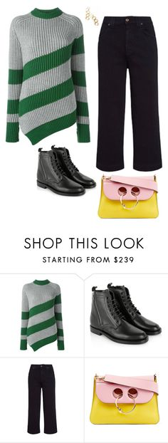 """""""Untitled #9"""" by meetminion ❤ liked on Polyvore featuring Marco de Vincenzo, Yves Saint Laurent, 7 For All Mankind, J.W. Anderson and Nakibirango"""