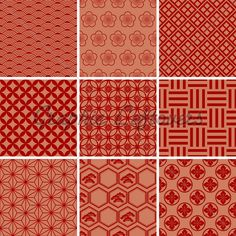 japanese-traditional-red-pattern-2.jpg (500×500)