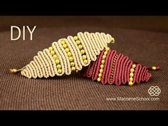 ▶ Snaky Macramé Eye Bracelet Tutorial ◀▶ - YouTube