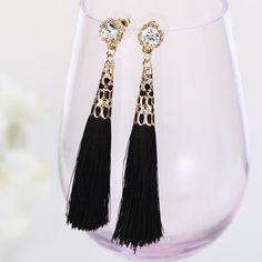 Moroccan Tassel Earrings The Styled Collection ($29) ❤ liked on Polyvore featuring jewelry and earrings
