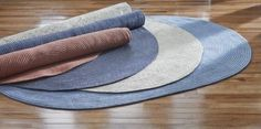 Caring for Braided Rugs Reverse and rotate braided rugs frequently to distribute traffic evenly on all sides. This will also minimize prolonged, direct exposure to sunlight and lessen fading. Maximize Small Space, Small Spaces, Braided Rugs, Palm Springs, Home Accents, Decorating Tips, Kids Rugs, Montgomery Ward, Sunlight