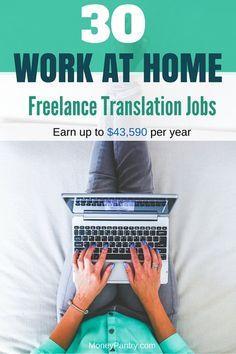 Top 30 companies that hire online freelance translators.