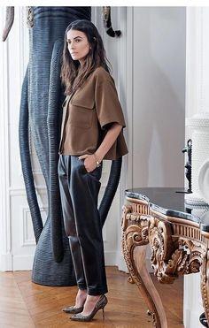 Leila Yavari - relaxed leather
