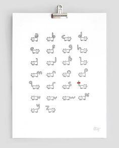 ねこの尻尾フォント。 Helveticat(ヘルベチキャット)