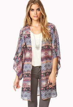 Globetrotter Kimono | FOREVER21 Kimo-YES #Love21 #Kimono #Printed #MustHave