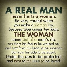 Men and women are equal in all respect!