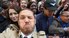 tom hardy selfie...... Needed this after the day I've had!! Just makes me smile:) Haha yeah